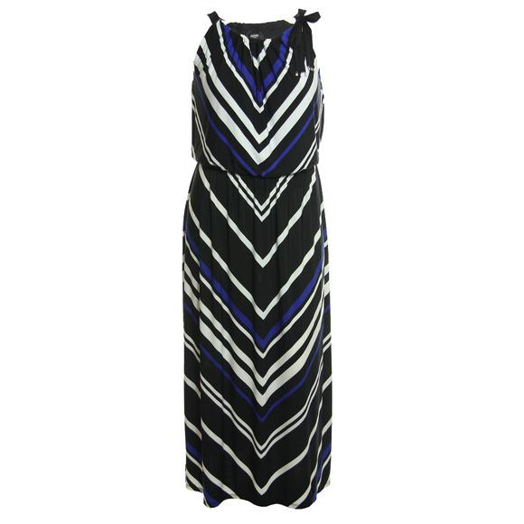 ae845118ad 0x Multi Color Chevron Print Sleeveless Maxi Dress